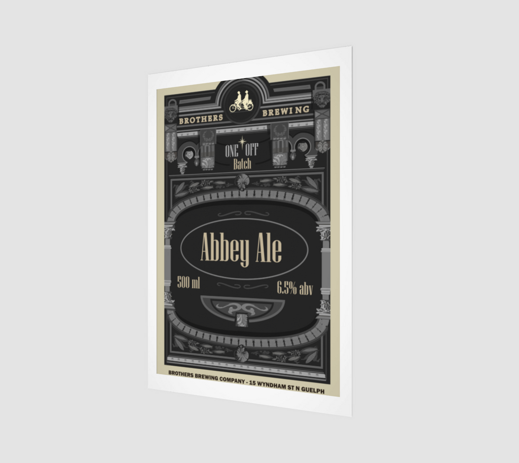 Abbey Ale Beer Label Art Print