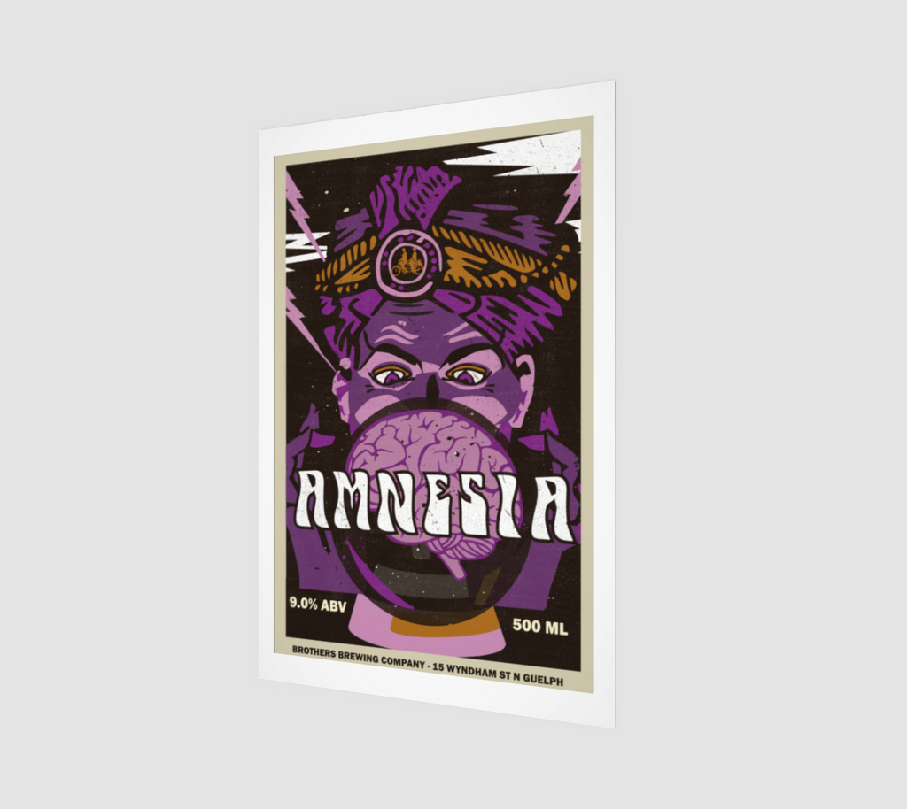 Amnesia DIPA Label Art Print
