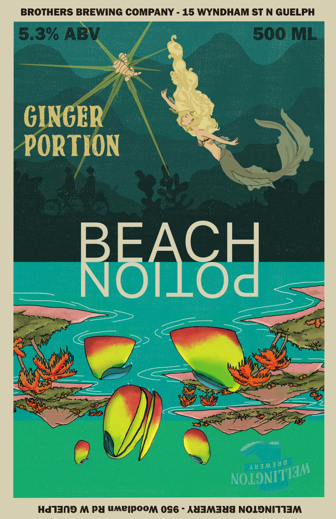 Beach Potion IPA Label Art Print 2