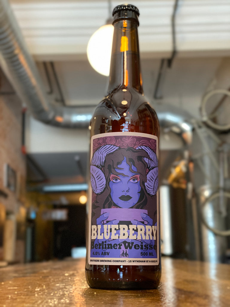 Blueberry Berliner Weisse Sour Beer Bottle