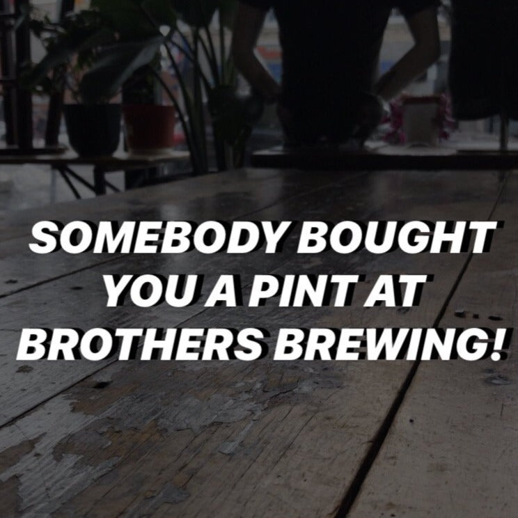 Somebody Bought You A Pint At Brothers Brewing Coupon