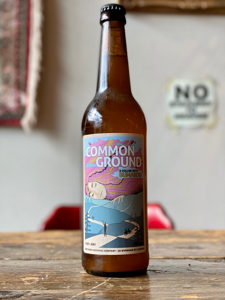 Common Ground Hazy IPA Beer Bottle
