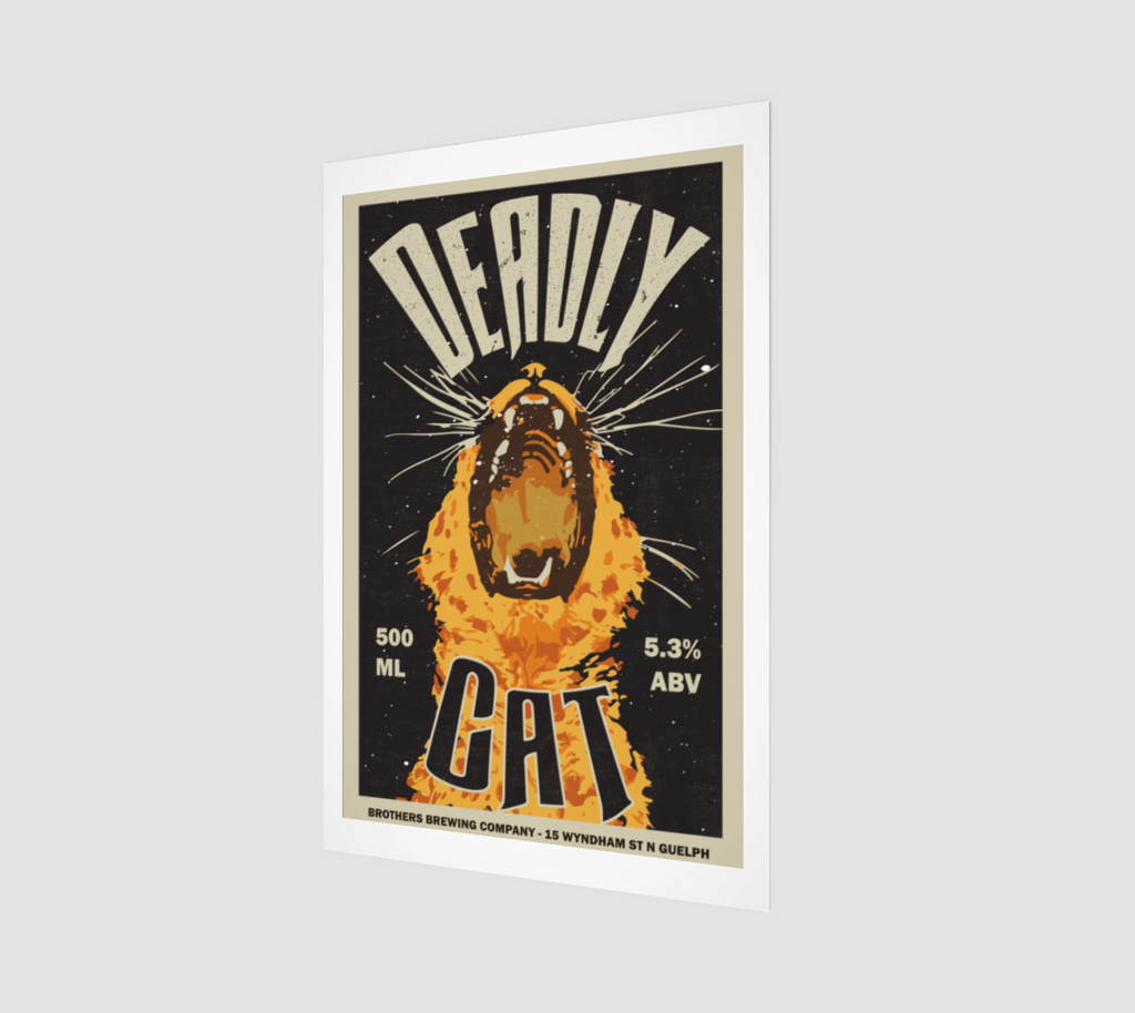 Deadly Cat Vanilla Ale Label Art Print