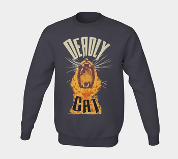 Deadly Cat Vanilla Ale Label Crewneck Sweater