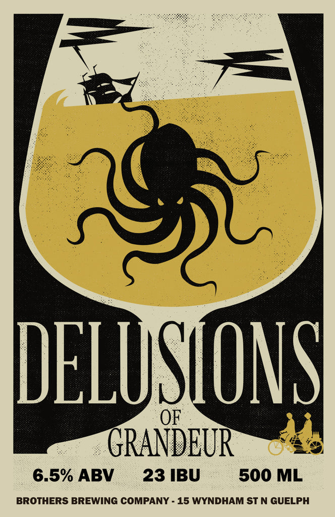 Delusions Of Grandeur Belgian Dubbel Label Fine Art Print 2
