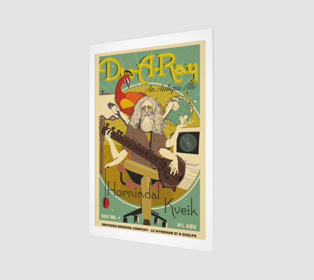 Dis-A-Ray Kveik IPA Label Art Print