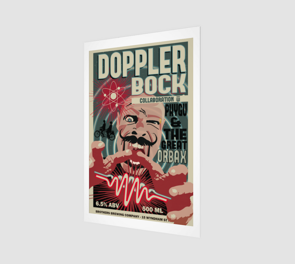 Doppler Bock Beer Label Art Print