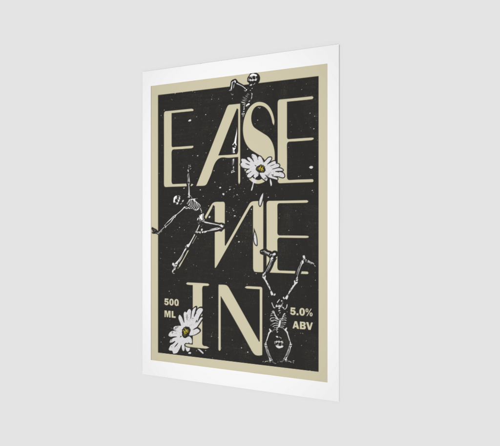 Ease Me In Session Ale Label Art Print