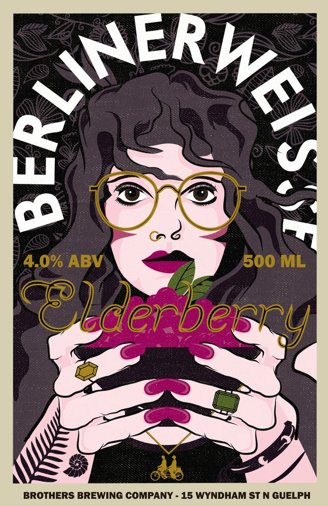 Elderberry Berliner Weisse Label Fine Art Print