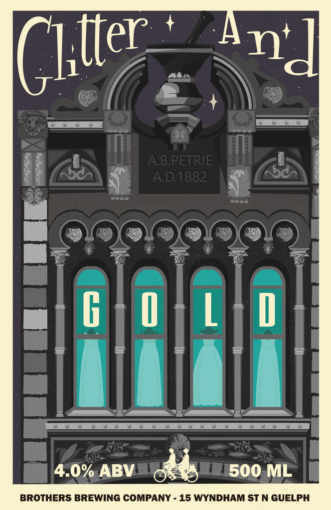 Glitter and Gold Beer Label Fine Art Print 2
