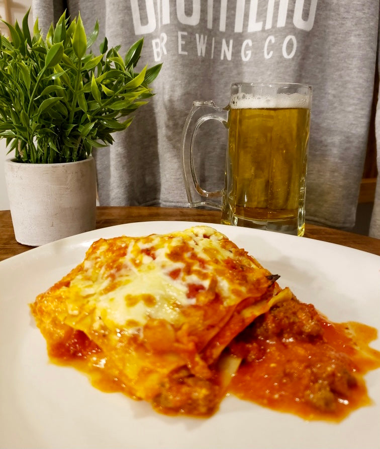 Social Food Company Lasagna on a plate