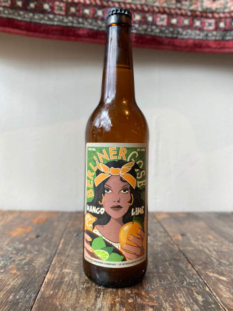 Mango Lime Berliner Weisse Gose Beer Bottle