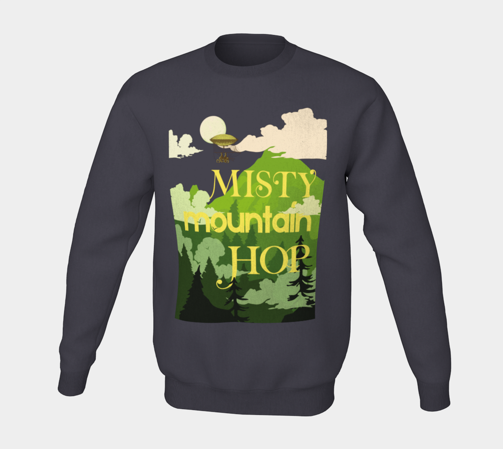 Misty Mountain Hop IPA Label Crewneck Sweater