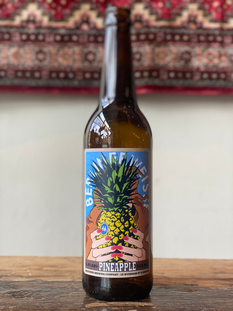 Pineapple Berliner Weisse Sour Beer Bottle