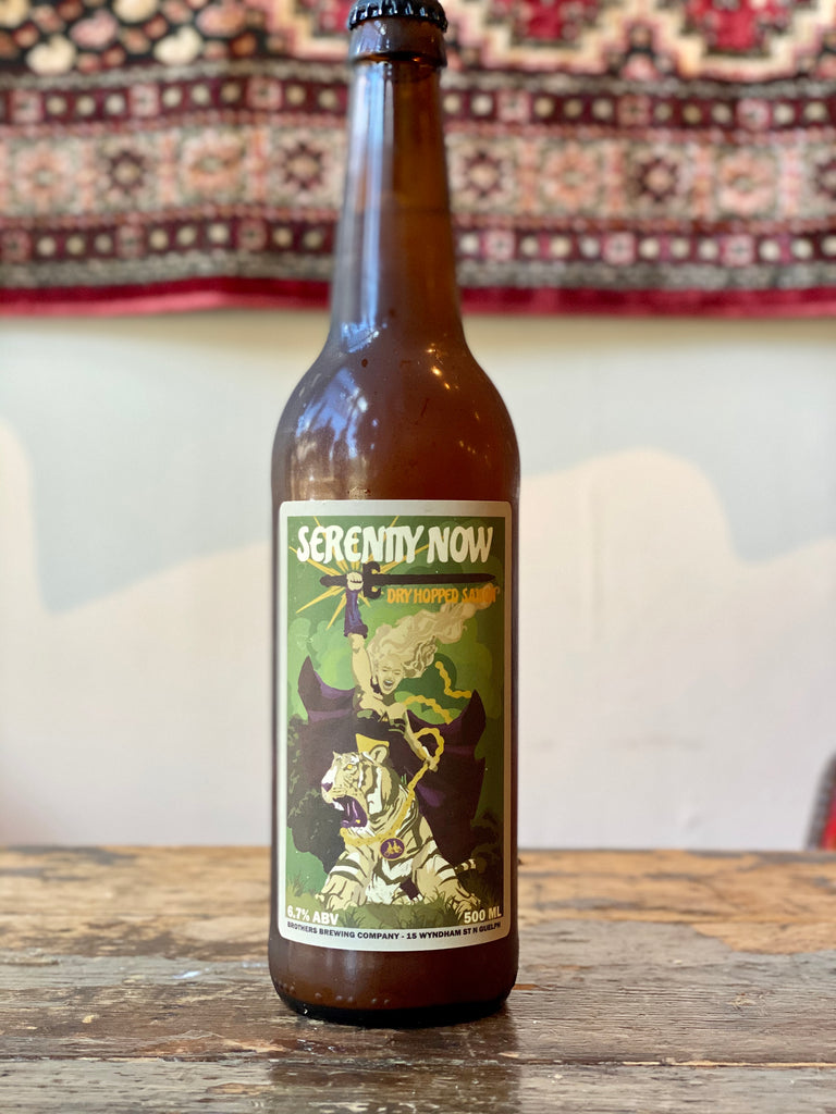 Serenity Now Dry-Hopped Saison Beer Bottle