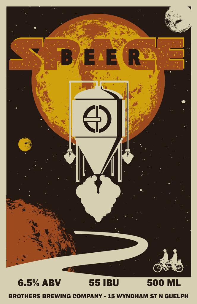 Space Beer Black IPA Label Fine Art Print 2
