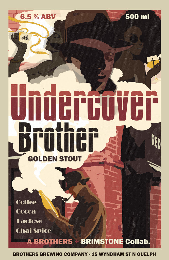Undercover Brother Chai Golden Stout Label Fine Art Print