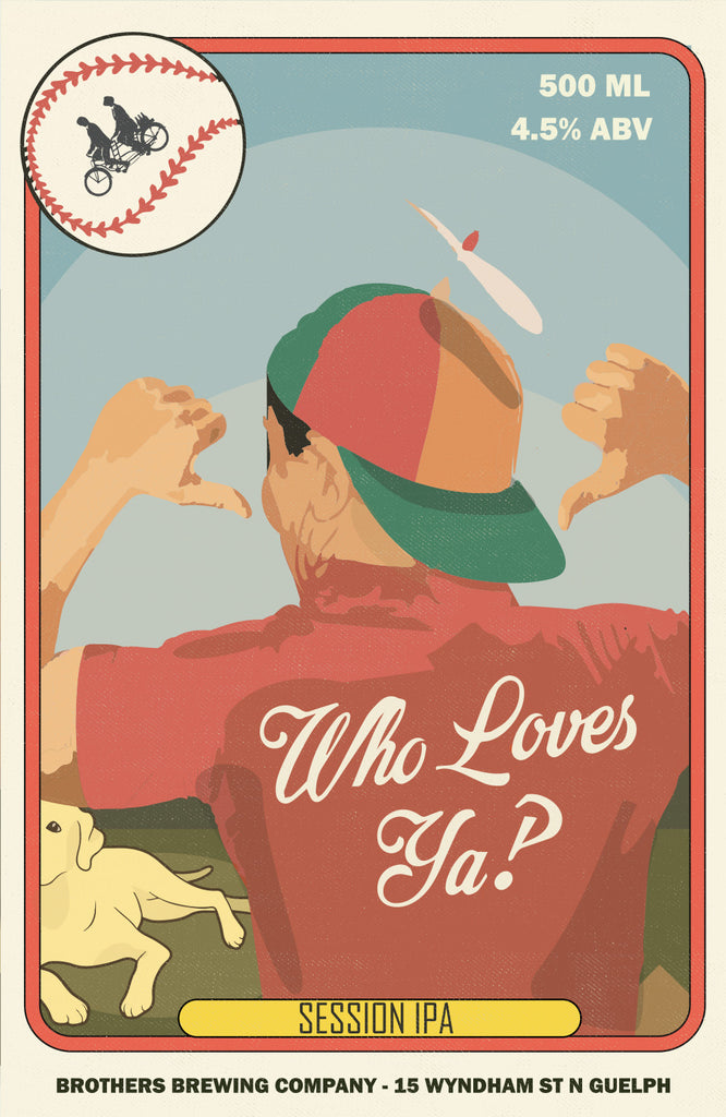Who Loves Ya Session Ale Label Fine Art Print 2