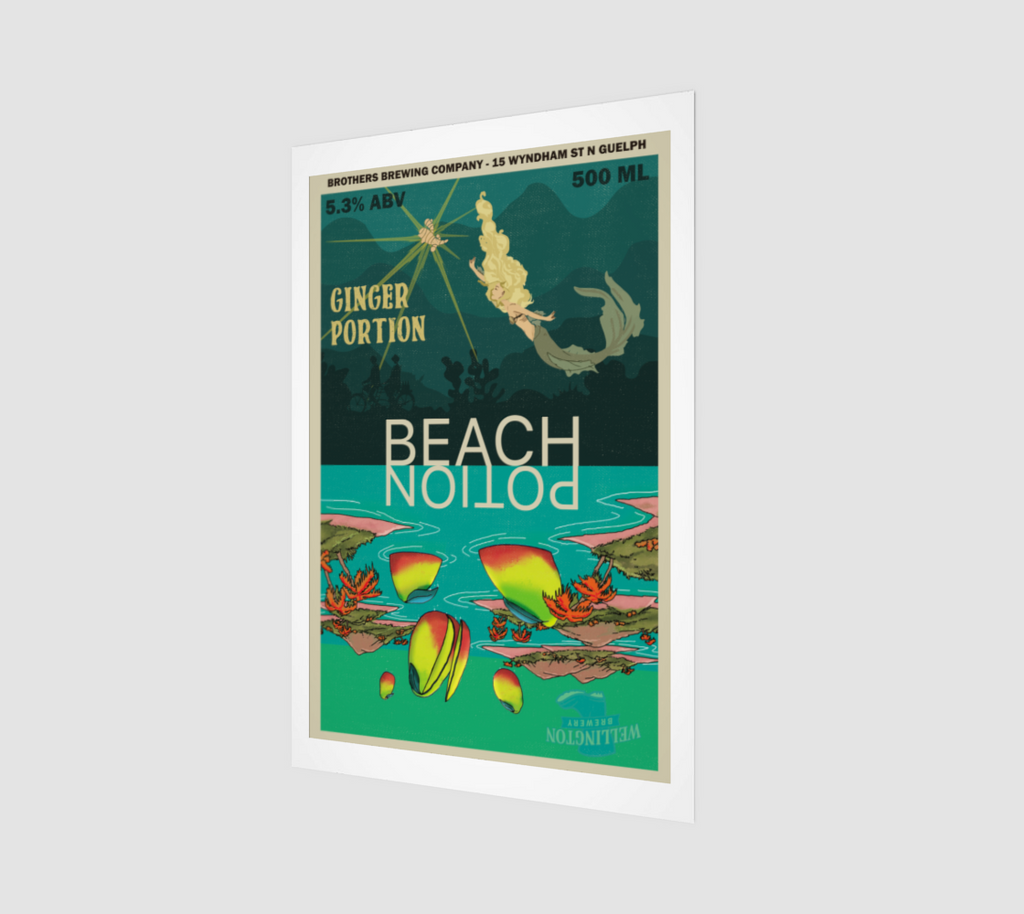 Beach Potion IPA - Ginger Portion Fine Art Print