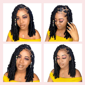 12 inches black butterfly locs golden rule hair