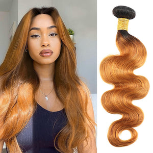 body wave bundles ombre brown golden rule hair