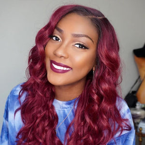 burgundy body wave bundles  golden rule hair