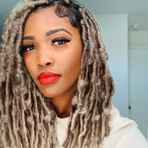 butterfly locs ombre color
