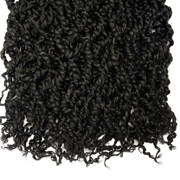 Passion Twist Crochet Hair Natural Black 18 inch - goldenrulehair