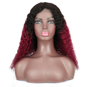 curly closre wig ombre burgundy golden rule hair