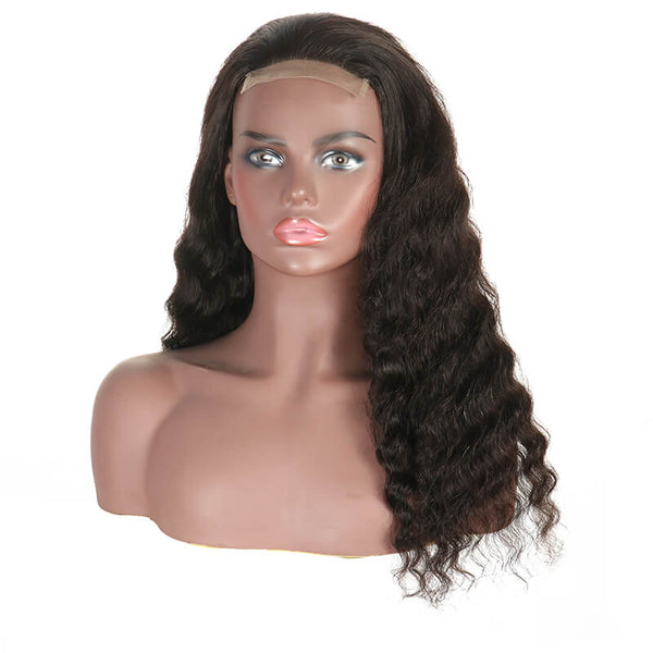Deep Wave 4x4 Lace Closure Wig Human Hair Wig Pre Plucked