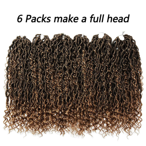 goddess locs crochet hair ombre bronde  golden rule hair