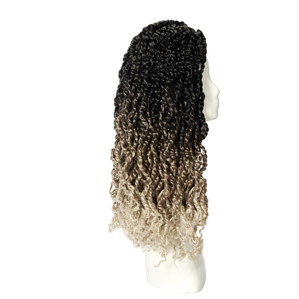 Passion Twist Crochet Hair Ombre Blonde 18 inch - goldenrulehair
