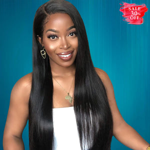 Peruvian Hair Bundles Straight Virgin Human Hair Weave 10A+ - goldenrulehair