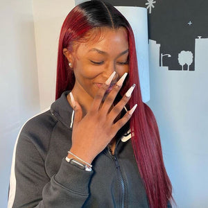straight bundles burgundy golden rule hair