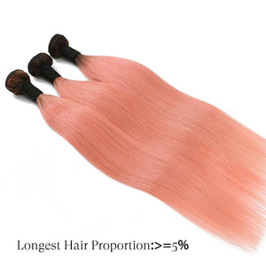straight human hair bundles pink golden rule hair