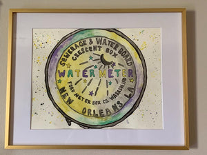 "The Mardi Gras Watercolor "" The Water Meter"""
