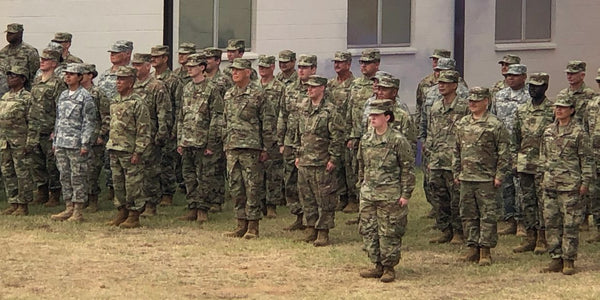 Texas State Guard final formation at Basic Orientation Training