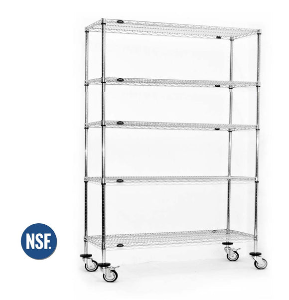 Stainless Steel Rolling Food Service / Kitchen Rack
