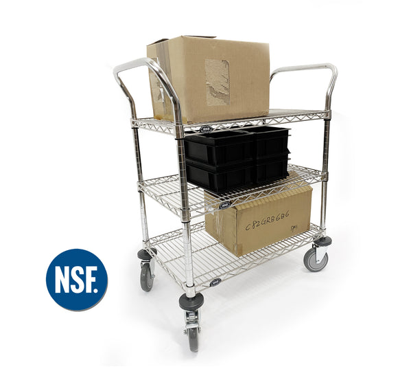 Stainless Steel Laboratory Utility Cart