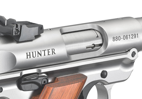 Ruger MKIII Hunter ejection port silver
