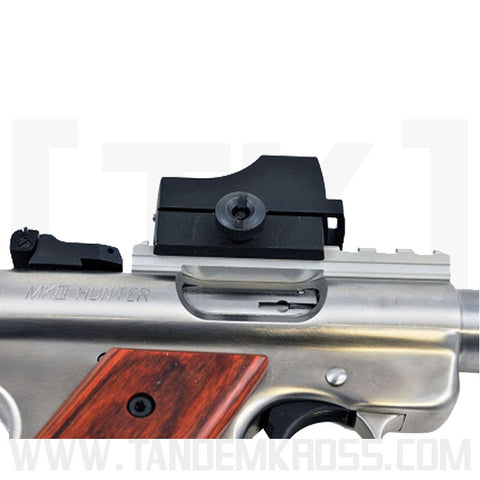 Ruger MKIII Hunter shadow rail silver