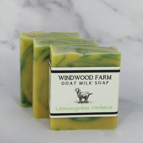 Lemongrass Verbena Goat Milk Soap