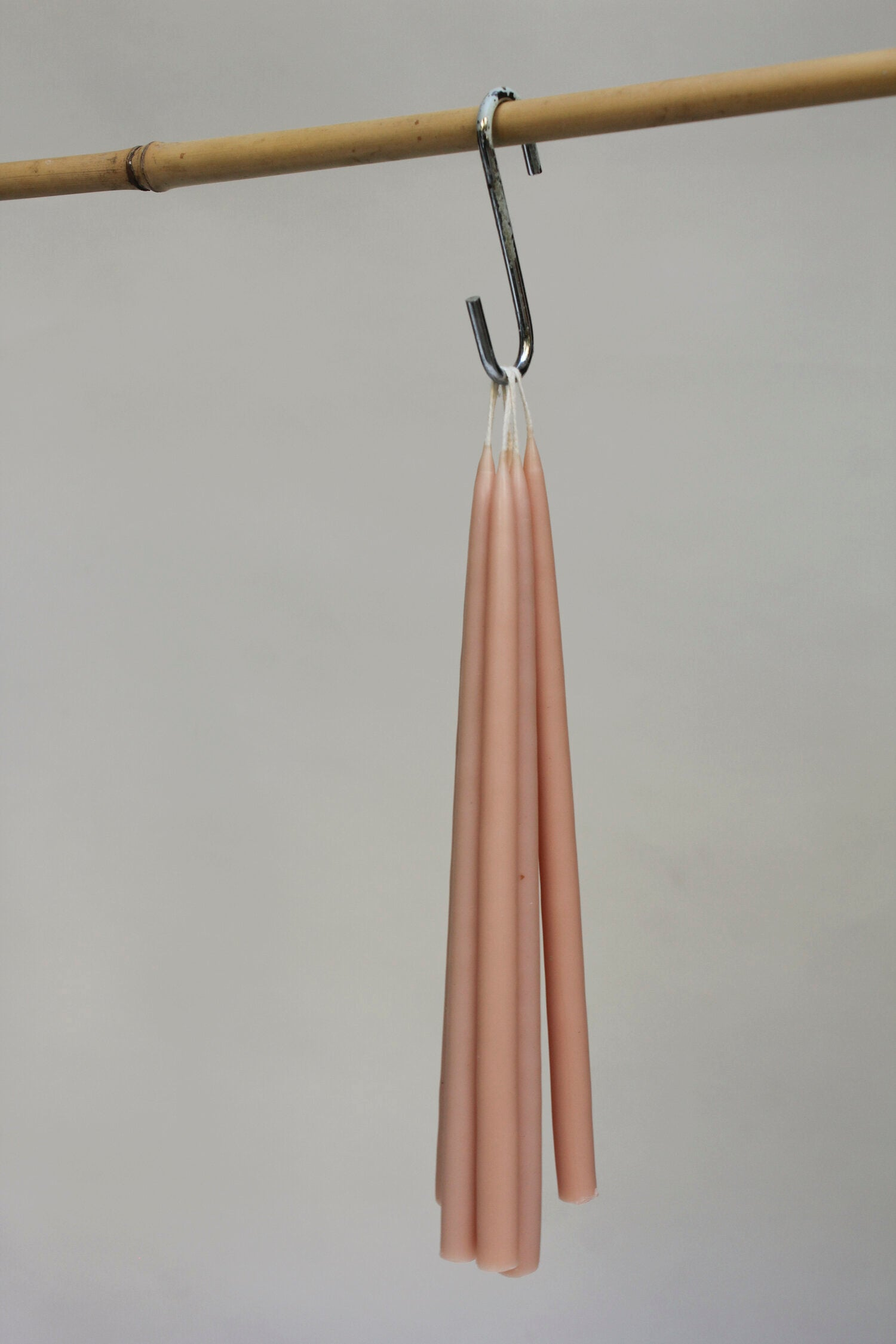 6 TAPERED CANDLES - PINK BLOSSOM