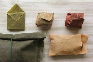 3 WAXED LINEN FOOD WRAPS