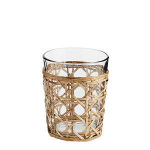 LARGE BAMBOO WICKER DRINKING GLASS