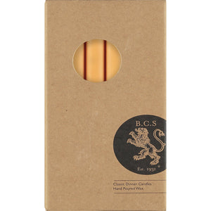 SAFFRON YELLOW ECO DINNER CANDLES