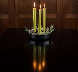 OLIVE GREEN ECO DINNER CANDLES
