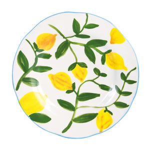 SET OF 4 LEMON PLATES