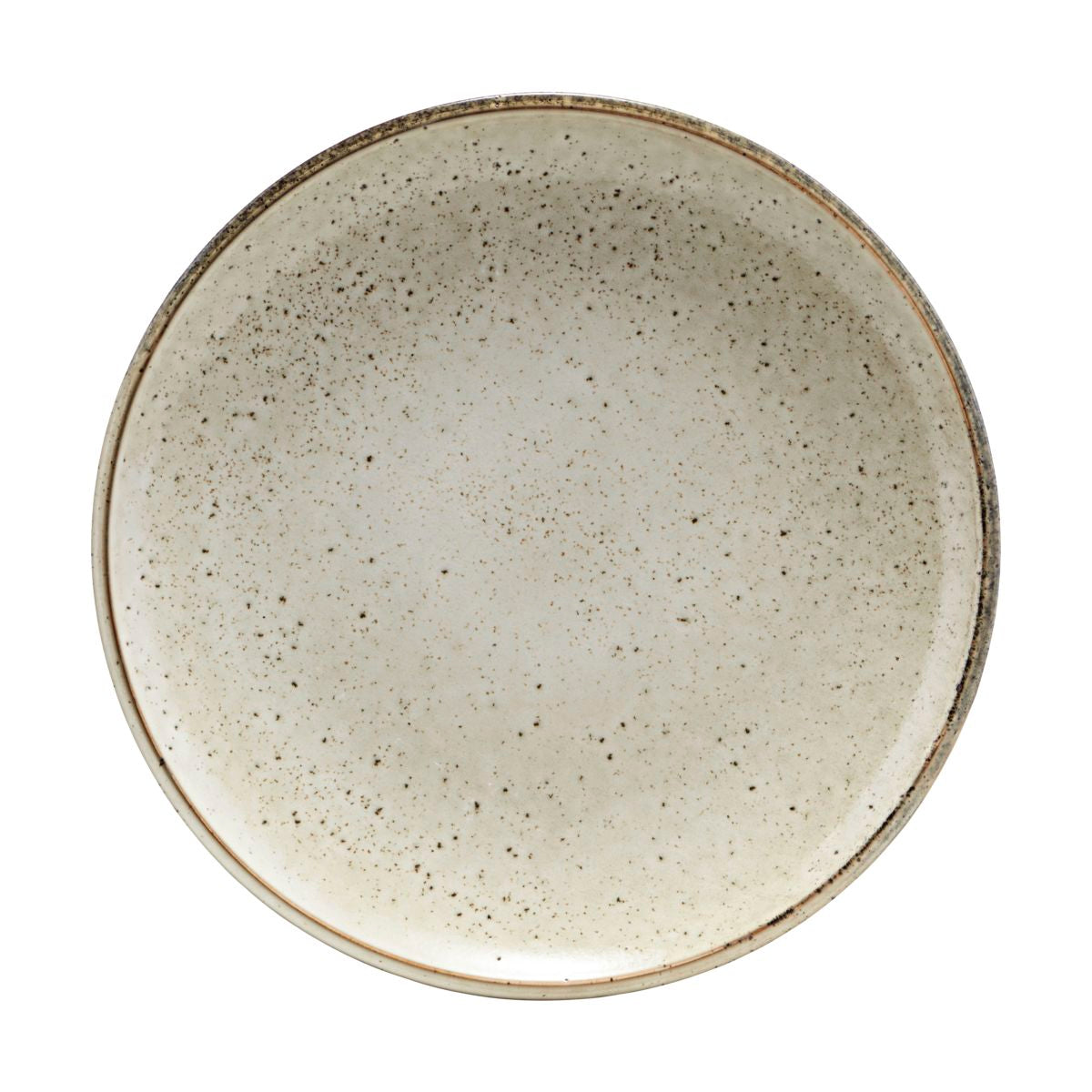 'LAKE' SPECKLED GREY DINNER PLATE