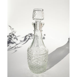 ART DECO PRESSED GLASS DECANTER